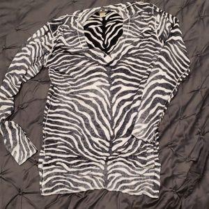 Michael Kors zebra sweater xs